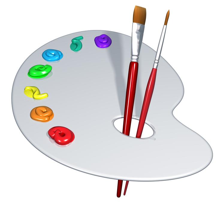 Plastic Paint Pallete