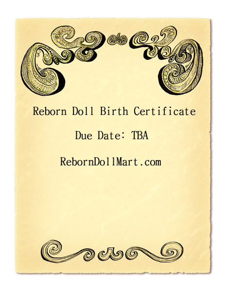 How to create a reborn doll birth certificate yadclub Choice Image