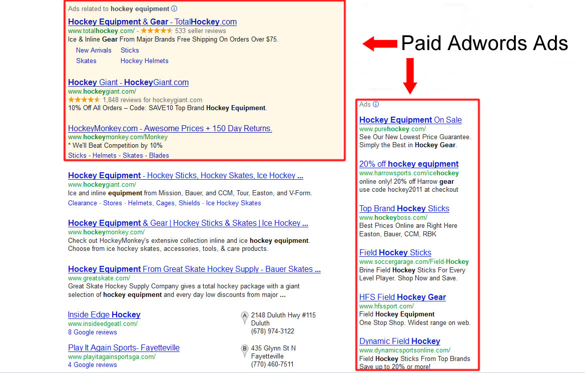 Google Adwords Location