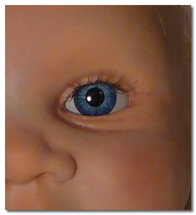 Applying Eyelashes on a Reborn Doll