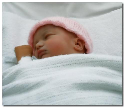 Poupée Reborn endormie