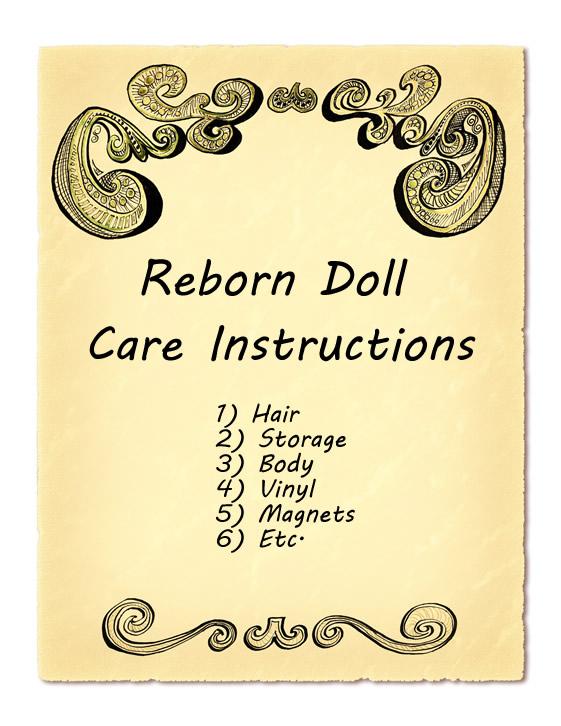 Instructions d'entretien de la poupée Reborn